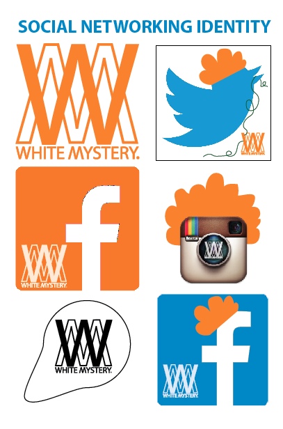 white mystery logos