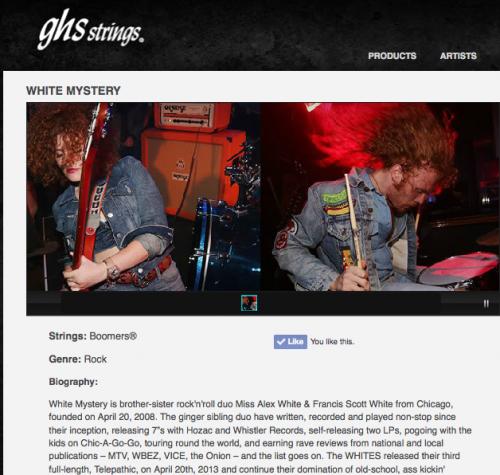 white mystery ghs strings