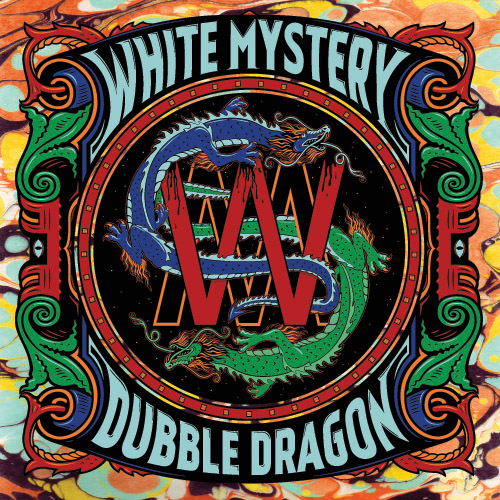 "WHITE MYSTERY ""DUBBLE DRAGON"" FRONT COVER"