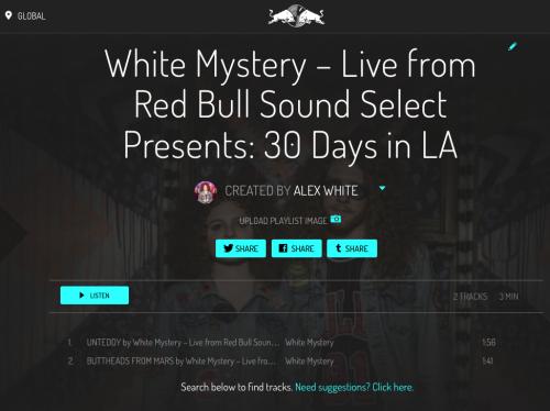 white mystery red bull live #30daysinLA
