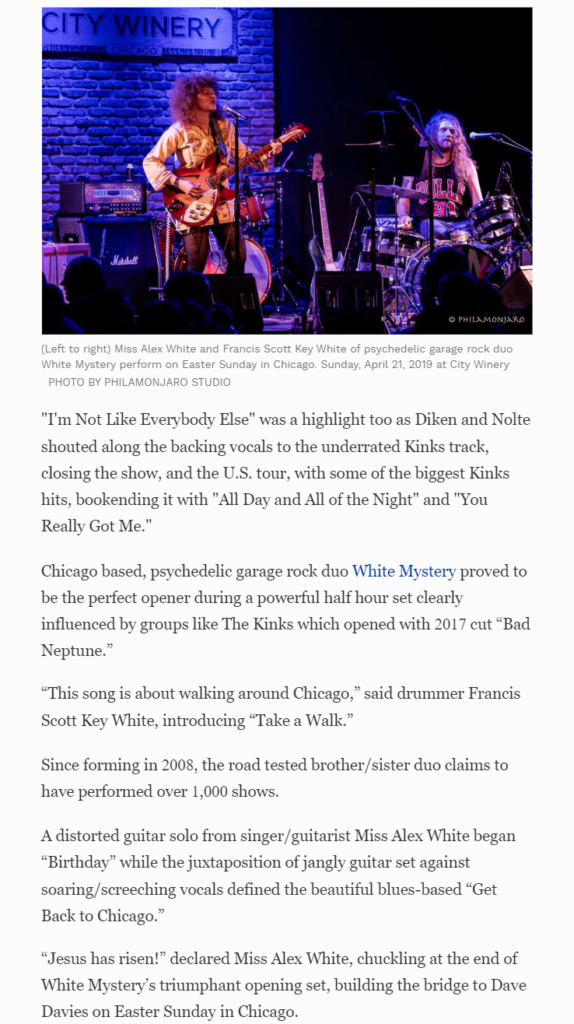"""Rock duo White Mystery proved to be the perfect opener,"""" Forbes"""